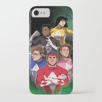 power rangers iPhone & iPod Cases featuring Mighty Morphin' Power Rangers by Ranger Danger