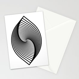 Geometric leaf spectrum Stationery Cards