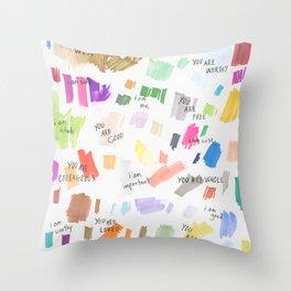 Enneagram Affirmations Throw Pillow