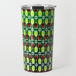 Wine Glasses Of Red And White Travel Mug