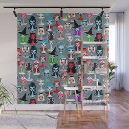 Spooky Dolls Wall Mural