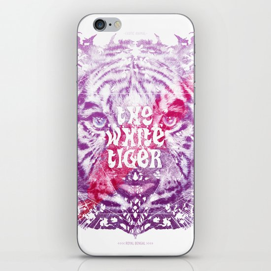 The White Tiger (Savage Version) iPhone & iPod Skin