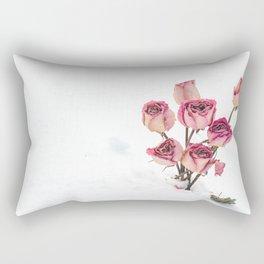 Rose in Snow Rectangular Pillow