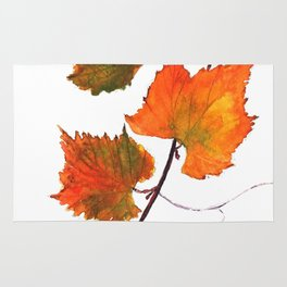 grapevine in autumn Rug
