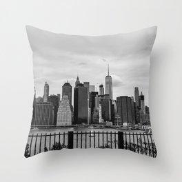Manhattan Ship Throw Pillow