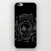 lincoln iPhone & iPod Skins featuring Abraham Lincoln by Maioriz Home