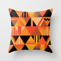 pumpkin Throw Pillows featuring pumpkin by Gray