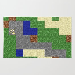 Pixel Craft Pattern Rug