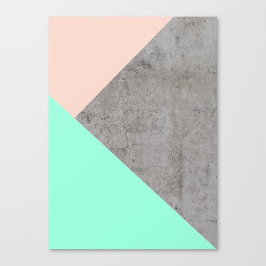Concrete Collage Canvas Print