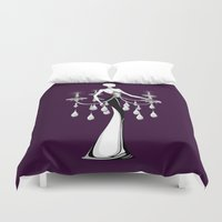 chandelier Duvet Covers featuring Chandelier by Schatzee
