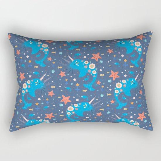 Narwhal & Babies  Rectangular Pillow