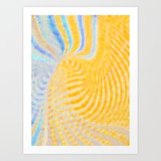 Yellow Magic Art Print
