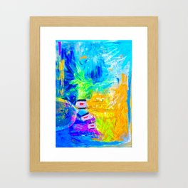 Smashing Abstract Framed Art Print