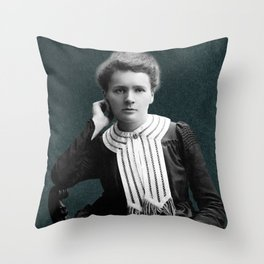 Young Marie Curie, 1903 Throw Pillow