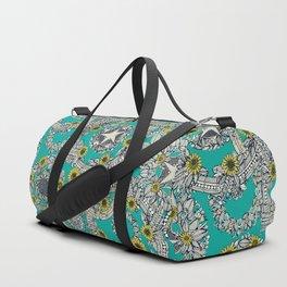 cirque fleur turquoise stone star Duffle Bag