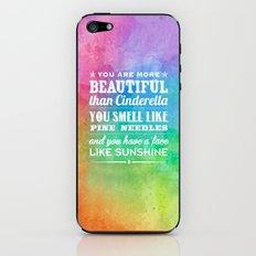 Sunshine Face iPhone & iPod Skin