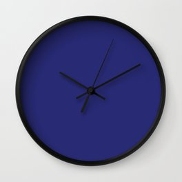 Navy Blue Solid Color Wall Clock