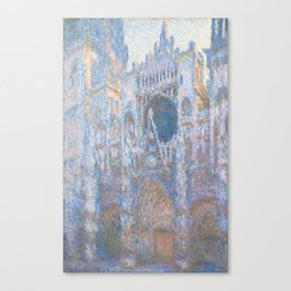 Claude Monet, Rouen Cathedral, West Facade 1894 Canvas Print