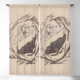 Peppered Moths Blackout Curtain