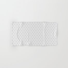 HD Soap Black Tiled on White Hand & Bath Towel