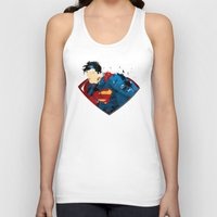 man of steel Tank Tops featuring Man of Steel by ALmighty1080