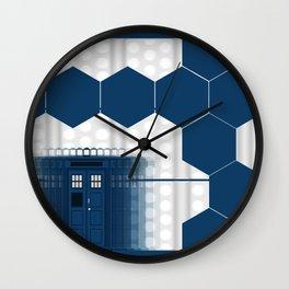 Tardis Shadow Blue Box Wall Clock