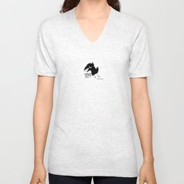 Retro fishcrow No Unisex V-Neck