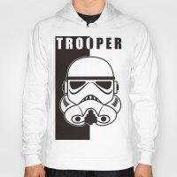 trooper Hoodies featuring Storm Trooper by SpaceCatsBonanzaParty
