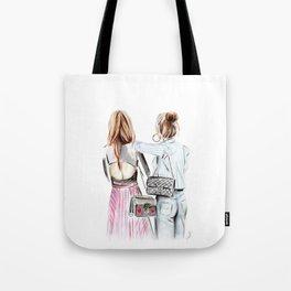 Street style girls Tote Bag