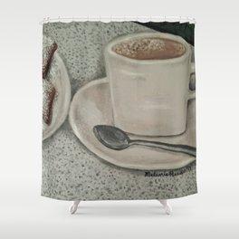 Beignets & Cafe Au Lait Shower Curtain