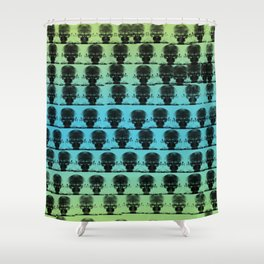 Aliens Listening to Headphones Coming For You Shower Curtain