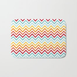 Rainbow Chevron #2 Bath Mat