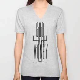 GOD OVER MONEY Unisex V-Neck