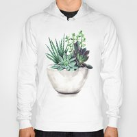 succulents Hoodies featuring Succulents by Bridget Davidson