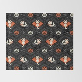 Spooky Kittens Throw Blanket