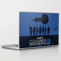 mass effect Laptop & iPad Skins featuring Mass Effect 3 by Bill Pyle