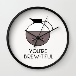 Beauty is in the eye of the Mug Holder Wall Clock