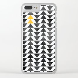 Triangle - Yellow II Clear iPhone Case