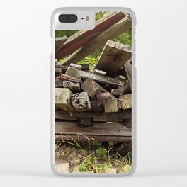 Reclaimed Woodpile Clear iPhone Case