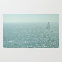 sailing Area & Throw Rugs featuring Sailing by Catherine Holcombe