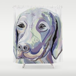 Weimaraner Denim Colors Shower Curtain