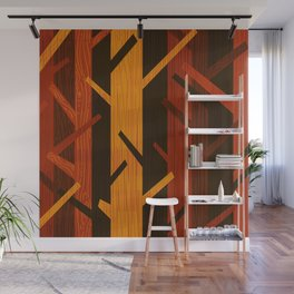 Retro Fall Woods by Friztin Wall Mural
