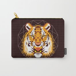 Geometric Tiger Carry-All Pouch