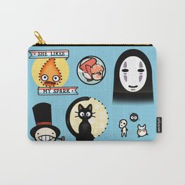 Ghibli Inspired Tattoo Flash Sheet Carry-All Pouch
