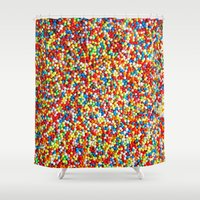 sprinkles Shower Curtains featuring Sprinkles by Rupert & Company