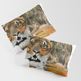 Tai Chi Tiger Design Pillow Sham