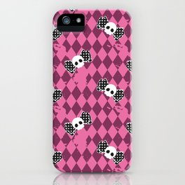gothic lolita skull pattern iPhone Case