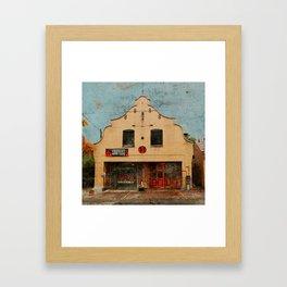 Roland Park Fire House Framed Art Print