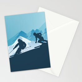 Let's Ski • Winter Sport • Christmas Special Stationery Cards