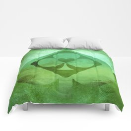 Full of Aces (Green Version) Comforters